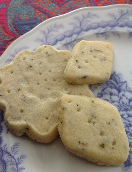 Lavender shortbread cookies from the village bakers wife