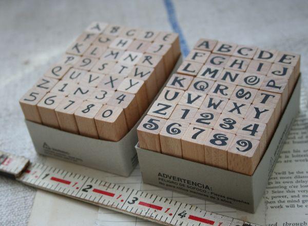 Bold alpha stamp set c