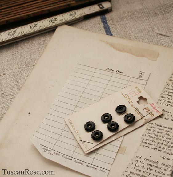 Vintage black buttons