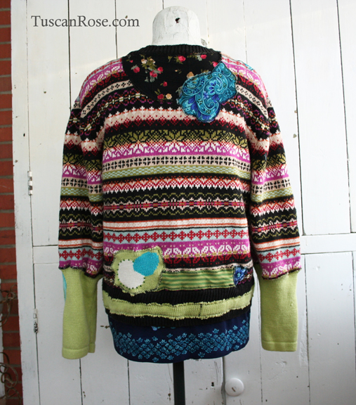 Fairisle garden sweater cardigan jacket b