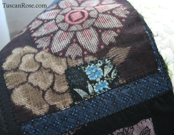 Fun with kimono fabrics jacket patch