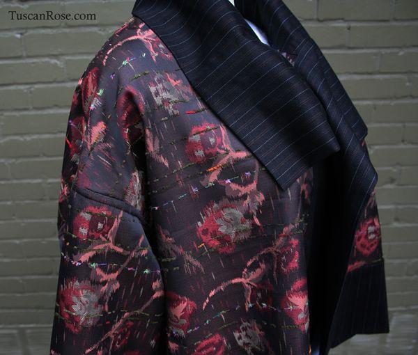 Fun with kimono fabrics jacket reverse