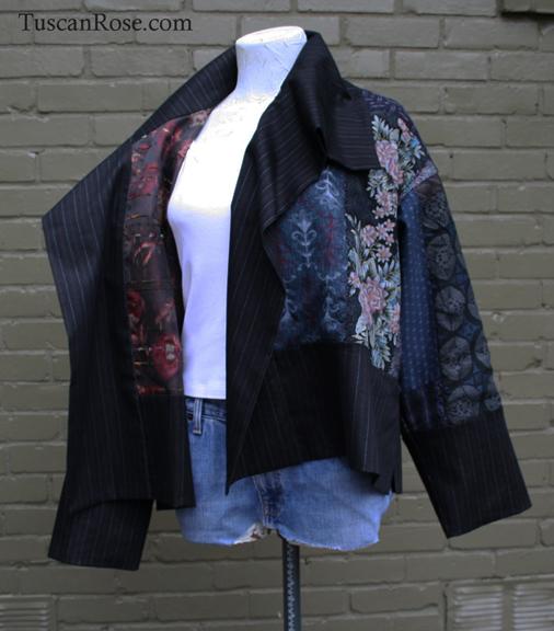 Fun with kimono fabrics jacket lining