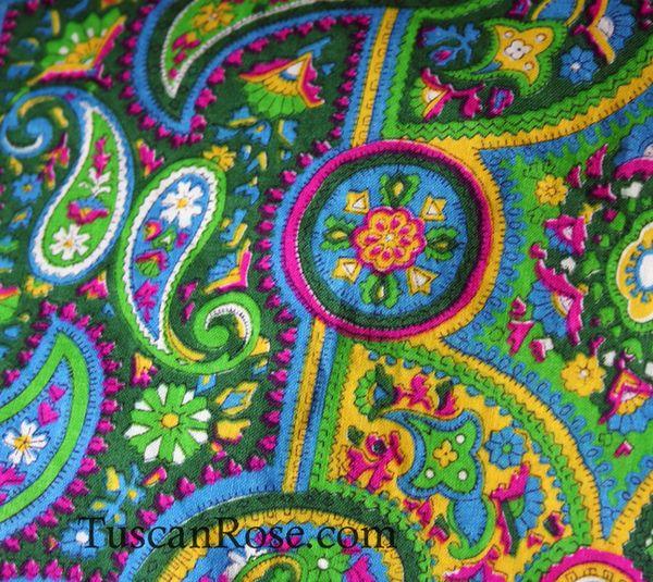 Neon paisley fabric