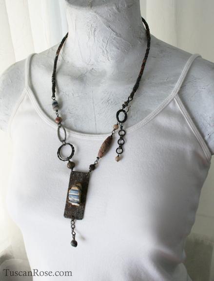 Urban mermaid sea pottery necklace g