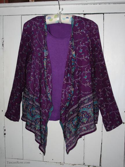 Kashmiri tracy milton pattern 8559 repurposed fabric d