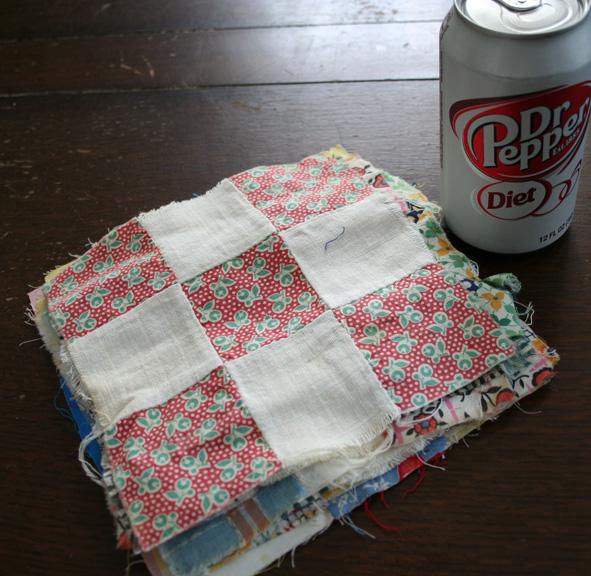 Nine patch quilt squares f