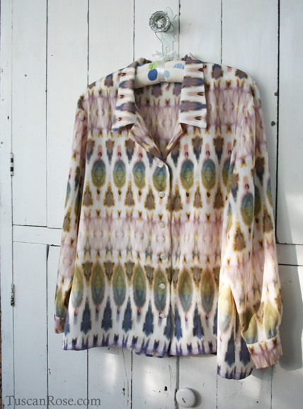Loes Hinse tuscan blouse in ikat