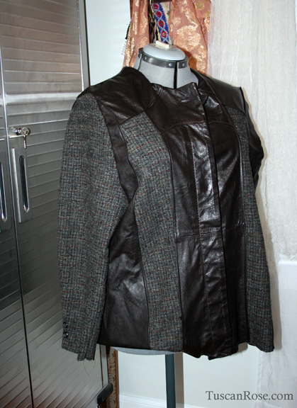 Day one of leather and tweed jacket c