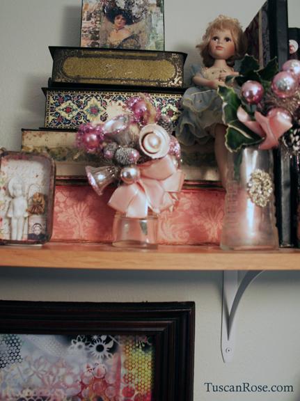 Studio shelf tuscan rose a