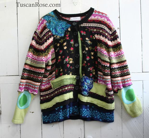 Fairisle garden sweater cardigan jacket a