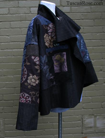Fun with kimono fabrics jacket tuscan rose