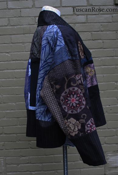 Fun with kimono fabrics jacket right side