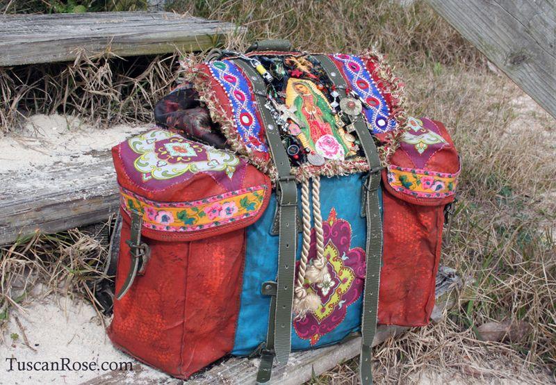 Guadalupe gypsy military rucksack boho bag