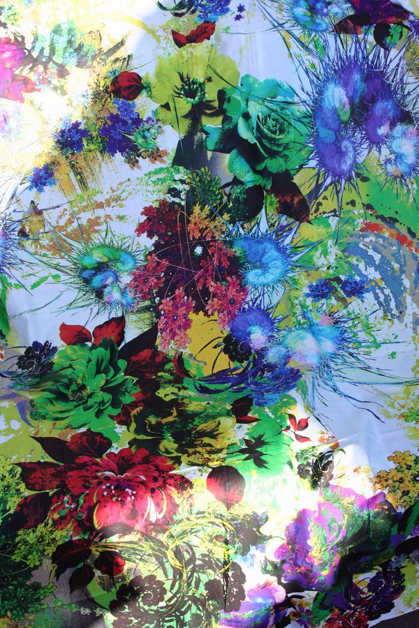 Fantasy floral rose fabric