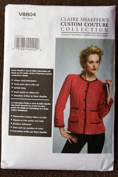 Vogue pattern 8804 the jacket