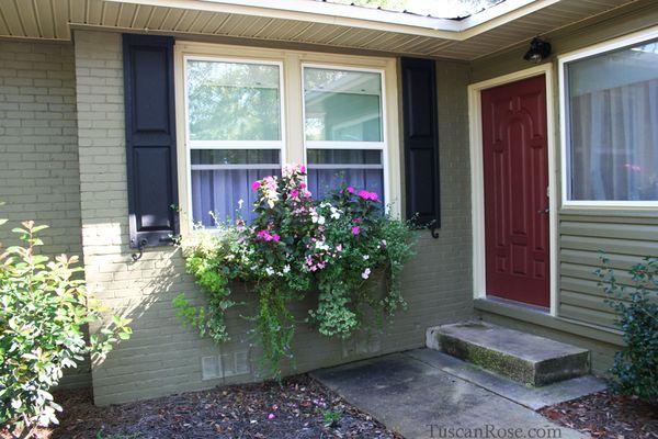 Cottage garden window boxes