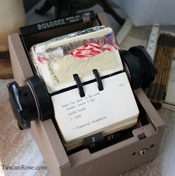 Scrapodex rolodex altered card art