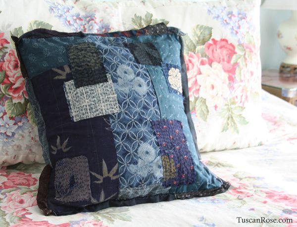 Kimono scraps pillow d