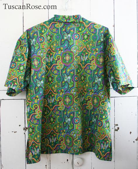 Tropical hippie camp shirt