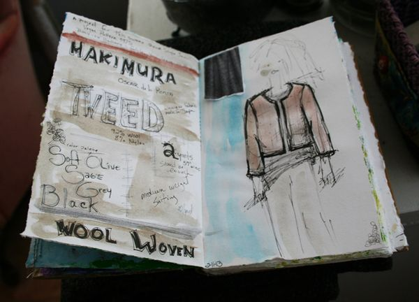 Model with busy hands journal