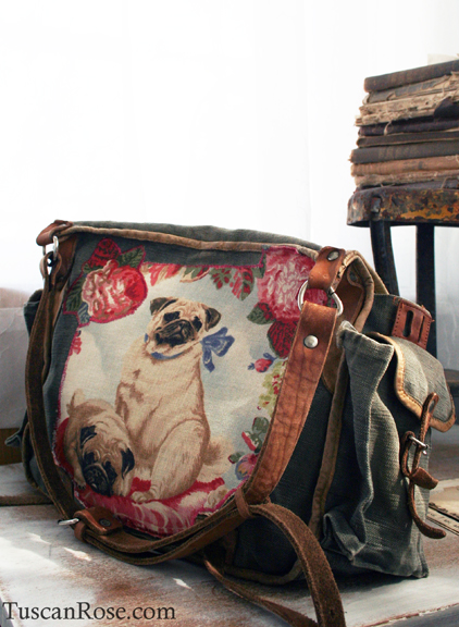 Pug altered military bag
