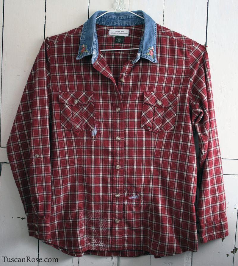 Shirt dark red e