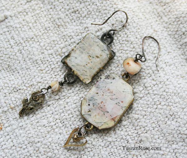 Pearl collage earrings b