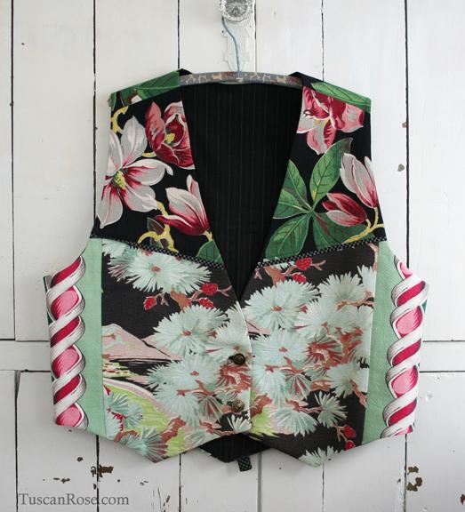 Barkcloth vest buttons butterick pattern 4662 (2)