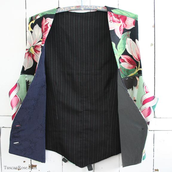 Barkcloth vest buttons butterick pattern 4662 (3)