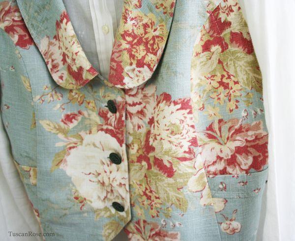 Aqua rose vest
