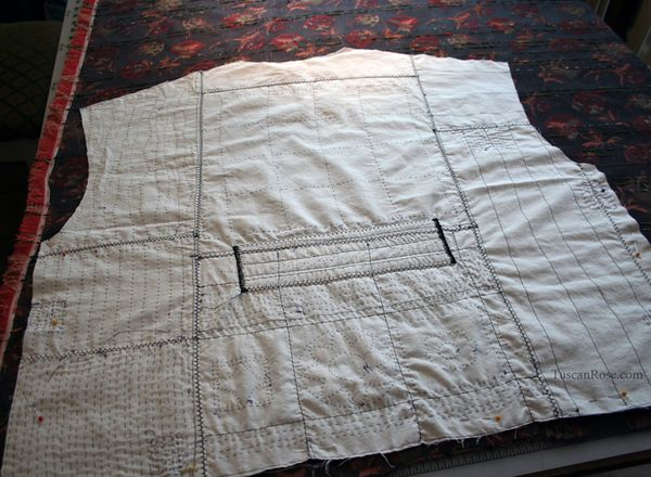 Kimono jacket quilting c