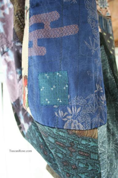 Kimono jacket patch blue