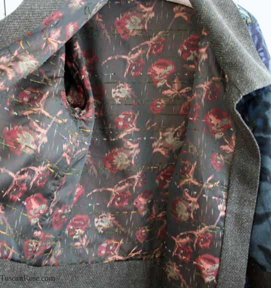 Kimono jacket lining