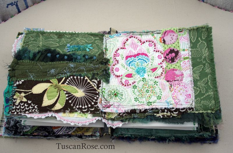 Gato muerto day of the dead fabric journal page five