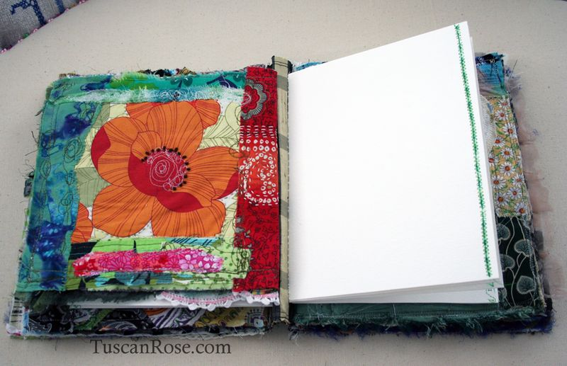 Gato muerto day of the dead fabric journal page six