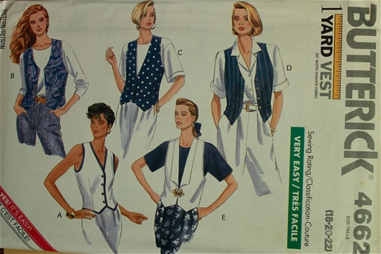 Butterick 4662 vest pattern