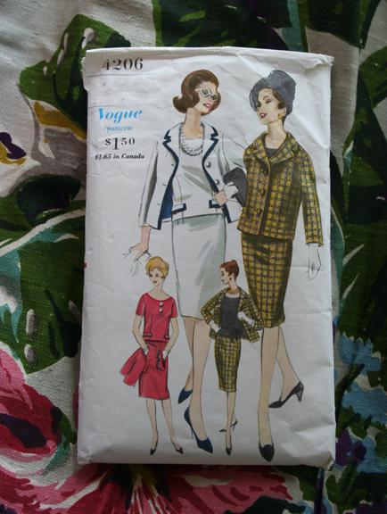 Vintage vogue pattern 4206