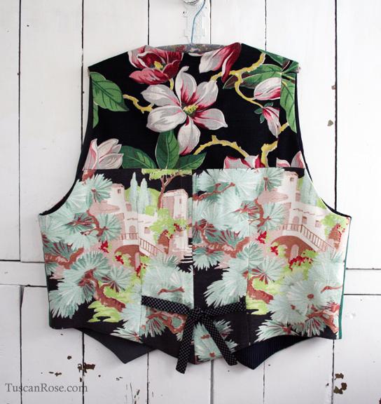 Barkcloth vest buttons butterick pattern 4662 (4)