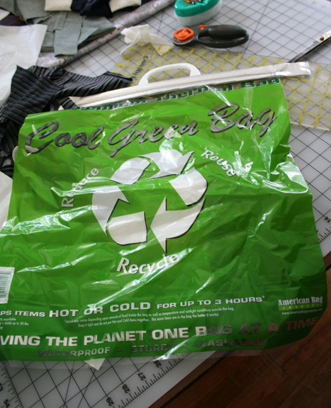 Lunch green bag