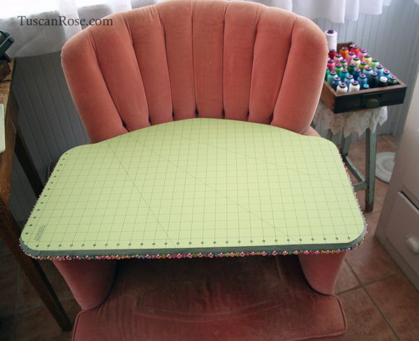 Chair cutting board