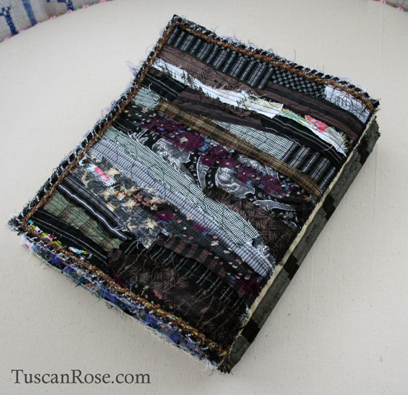 Gato muerto day of the dead fabric journal back cover