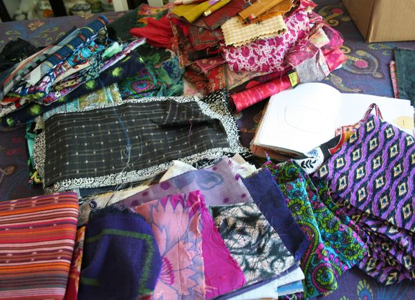 Fabric stash ikats