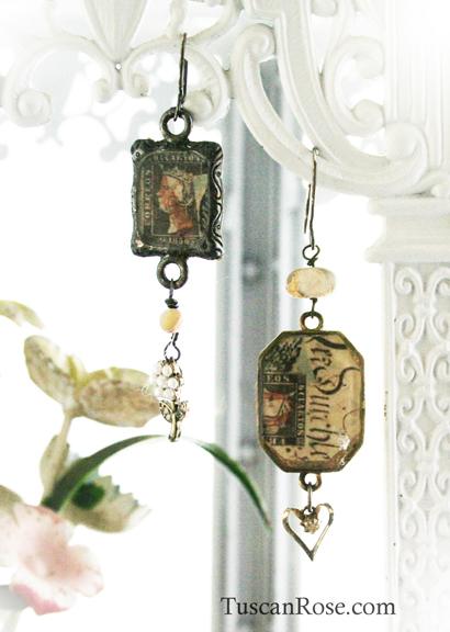 Pearl collage earrings f