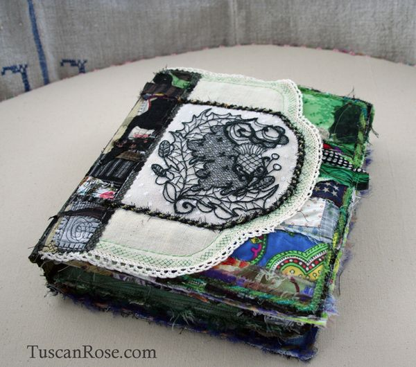 Gato muerto day of the dead fabric journal front cover  (2)