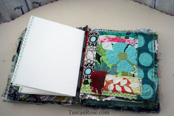Gato muerto day of the dead fabric journal page four