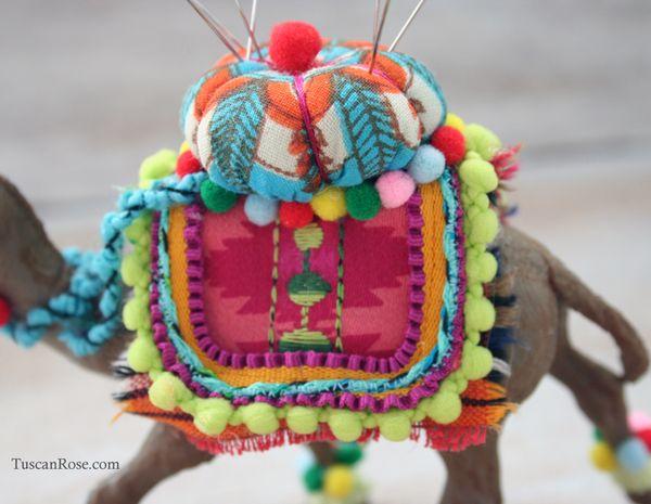Camel pincushion saddle blanket