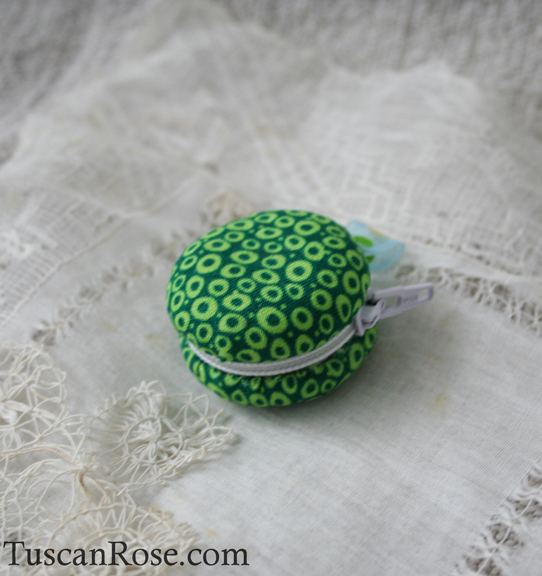 Lemon lime macaron coin purse