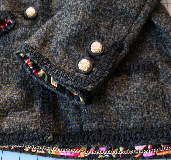 French jacket chain hem