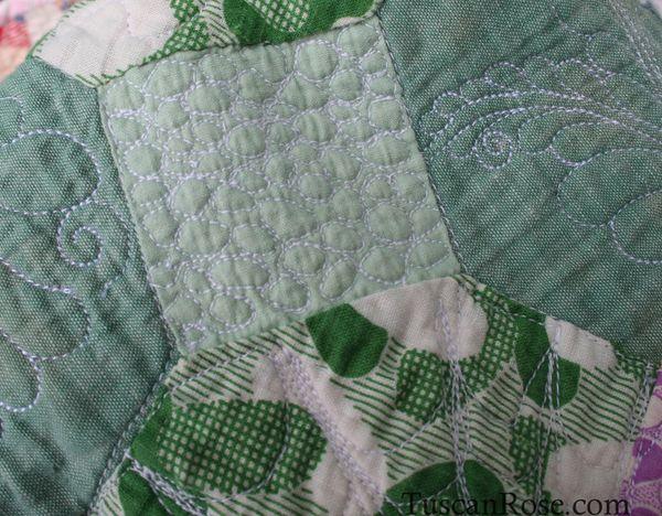 Vintage feedsack quilt top (6)